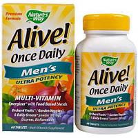 Мультивитамины для мужчин Nature's Way, Alive! Once Daily Men's 60 таблеток