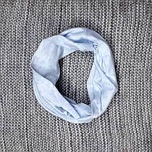 Комплект шапка + хомут  на мальчика весна-осень голубого цвета Fido (Польша) размер 46 48 50, фото 3