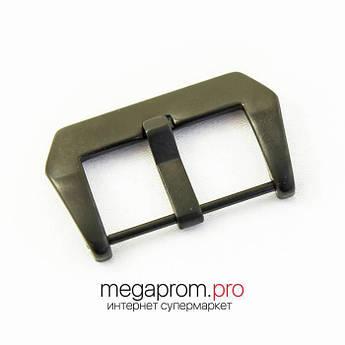Для годин Застібка/Пряжка для годин класична чорна матова 22   24   26 мм (07726)