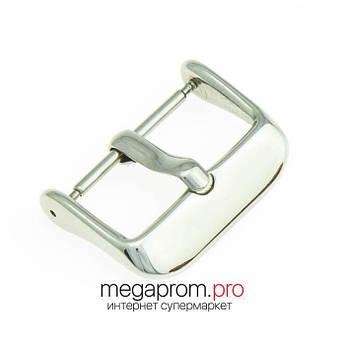 Пряжка/застібка для годин класична срібло 18 мм, 20 мм, 22 мм (07986)