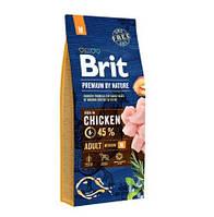 Сухой корм Brit (Брит) Premium by Nature Adult M для взрослых собак средних пород 10 - 25 кг 15 кг