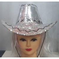 Ковбойская шляпа-паетки