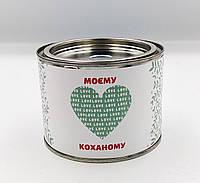 """Подарок Носки в банке """" Моєму коханому"""" 3 пары Черные"""