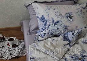 Коплект постельного белья сатин Пионы+Лаванда