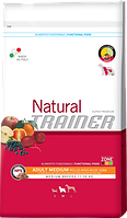 Сухой корм Trainer (ТРЕНЕР) Natural Adult Medium Con Pollo Fresco Riso & Aloe Vera  для взрослых собак средних пород 3 кг.