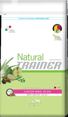 Сухой корм Trainer (ТРЕНЕР) Natural Super Premium Junior Maxi для юниоров крупных и гигантских пород 3 кг.