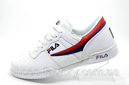 Белые кроссовки в стиле Fila F-13 White, фото 2