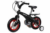 """Дитячий велосипед 12"""" MIQILONG MQL-GN чорний"""