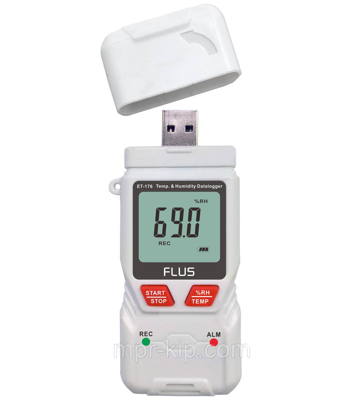 Регистратор температуры и влажности Flus ET-176 (-40°C...+70°C; 0-100%) PDF