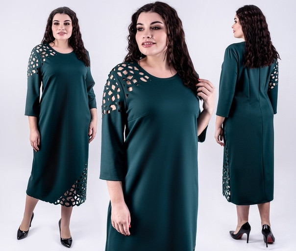 платье с декором большого размера