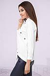 Оригинальная белая рубашка с асимметрией, фото 2