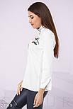 Белая рубашка с принтом птицы, фото 2