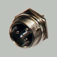 Разъём гарнитурный MIC 3pin Мale (штекер), монтажный, корпус металлический
