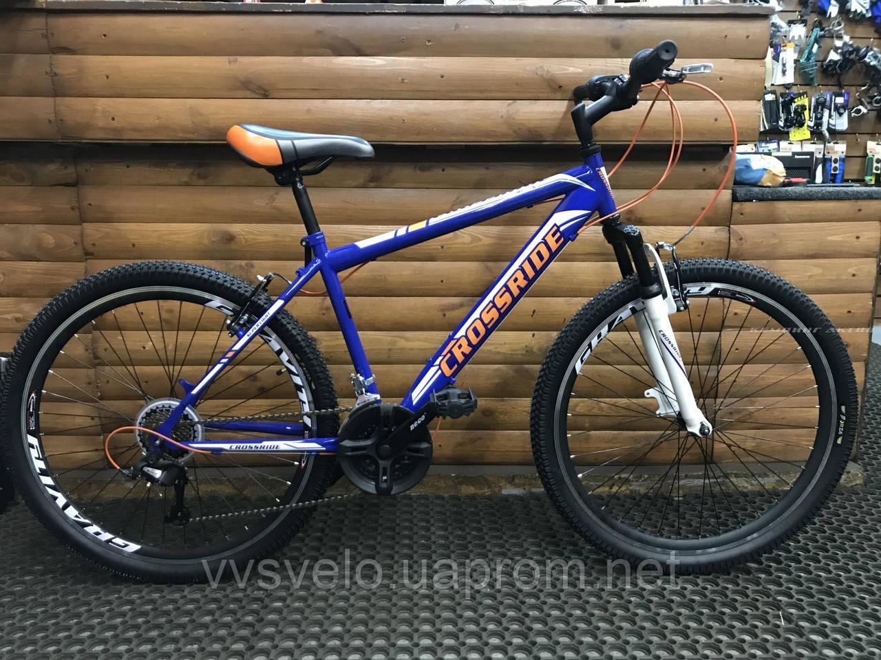 "Велосипед Crossride MTB Shark 29"" 21"" Синий"