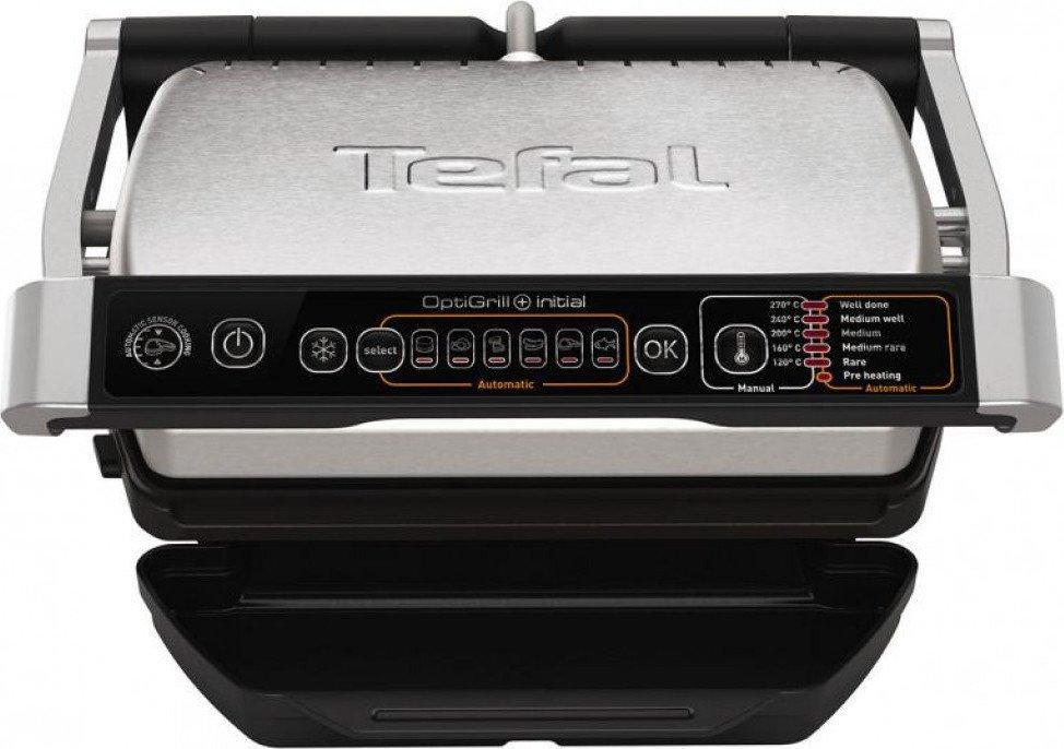 Електрогриль притискний Tefal GC706D34 OptiGrill+ (6 автоматичних програм + ручний режим + розморозка)
