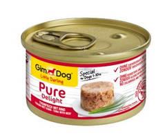 GimDog Little Darling Pure Delight Консервы для собак с тунцом и говядиной