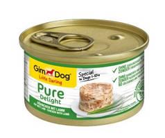 GimDog Little Darling Pure Delight Консервы для собак с курицей и ягненком