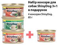 Набор консерв ShinyDog 3+1 в подарок