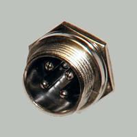 Разъём гарнитурный MIC 4pin Мale (штекер), монтажный, корпус металлический