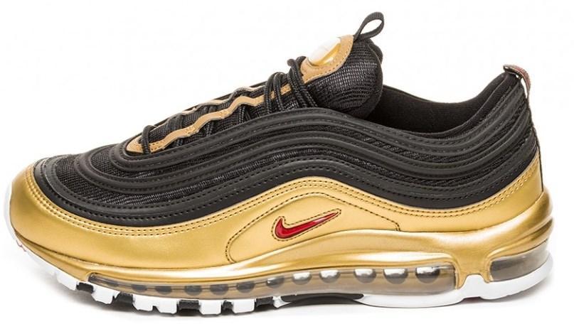a0a5431d Мужские кроссовки Nike Air Max 97 QS Black Varsity Red Metallic Gold (найк  аир макс