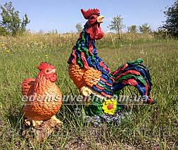 Садовая фигура Петух Петя и Курица малая, фото 2