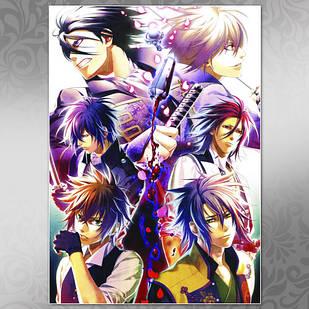 Плакат Аниме Hakuouki Shinsengumi Kitan 02