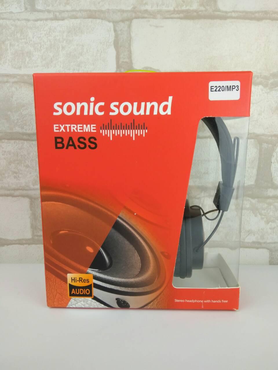 Наушники Sonic Sound E220 MP3 Extreme Bass black-red