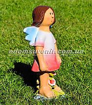 Садовая фигура Фея луговая средняя и Фея цветочник малая, фото 2