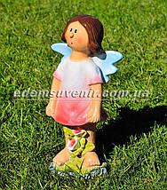 Садовая фигура Фея луговая средняя и Фея цветочник малая, фото 3