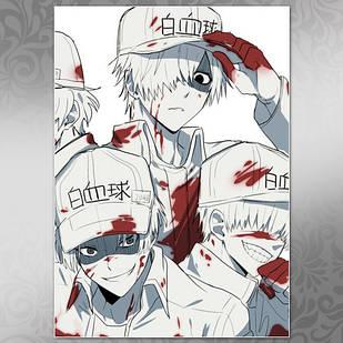 Плакат Аниме Hataraku Saibou 03