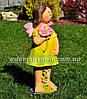 Садовая фигура Фея луговая средняя, Фея цветочная большая и Тюльпан, фото 3