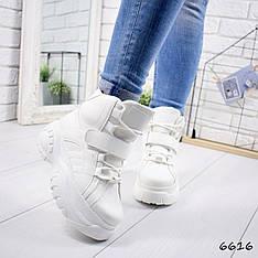"""Ботинки, ботильоны белые в стиле """"Buffalo"""" эко кожа, повседневная, демисезонная, удобная, женская обувь"""