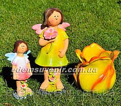 Садовая фигура Фея луговая средняя, Фея цветочная большая и Тюльпан, фото 2