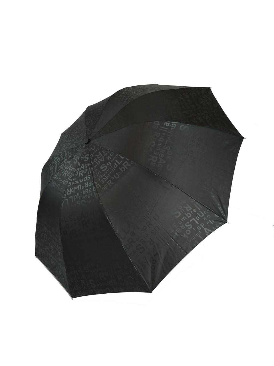 """Механический большой семейный зонт на 10 спиц от фирмы """"Flagman"""", черный, 609-1"""