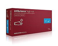 Перчатки резиновые (латексные) Ambulance  Перчатки High Risk (M) 7-8, фото 1