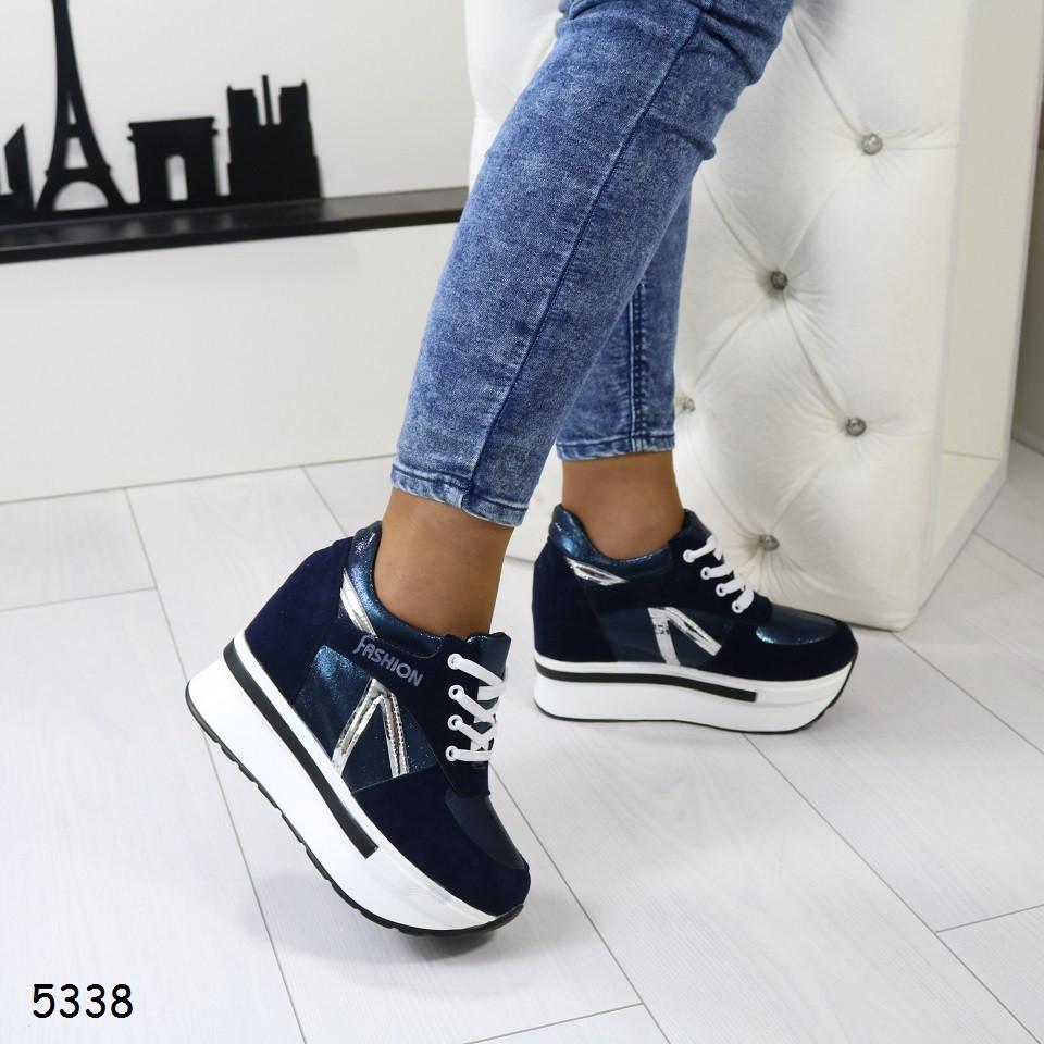 af18a7cb0 Женские кроссовки сникерсы на платформе и танкетке, А 5338 - LadyShoes -  огромный выбор обуви