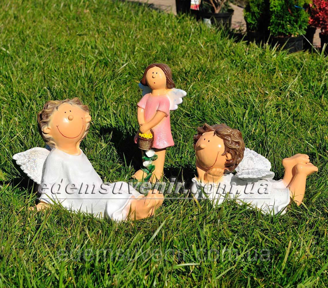 Садовая фигура Помощник Феи А, Помощник Феи Б и Фея садовая малая