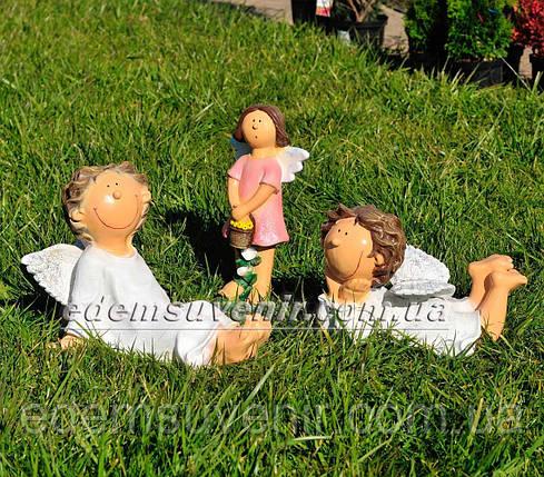 Садовая фигура Помощник Феи А, Помощник Феи Б и Фея садовая малая, фото 2