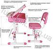 Ортопедическая детская парта  FunDesk Capri Pink, фото 5
