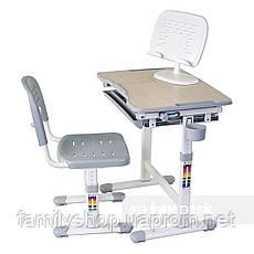 Детская парта-растишка и стульчик FunDesk Piccolino Grey, фото 2