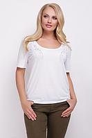 Женская футболка с аппликацией из камней 82395