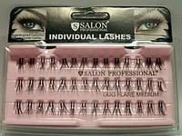 Пучки для наращивания ресниц SALON Professional DUO FLARE двойные INDIVIDUAL LASHES