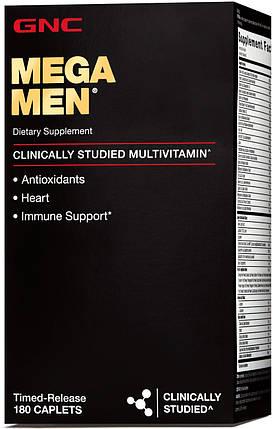 Витамины GNC MEGA MEN 180 капсул, фото 2
