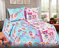 Детская постель ЛОЛ. Полуторный комплект детского постельного белья LOL. Ткань Бязь, Коттон