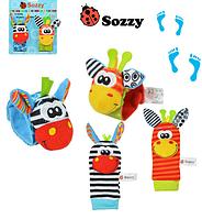 Ігровий розвиваючий набір для малюків Джунглі Playgro Джунгли набор погремушек
