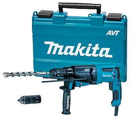 Перфоратор Makita HR2631FT + кейс + сменный быстрозажимной патрон