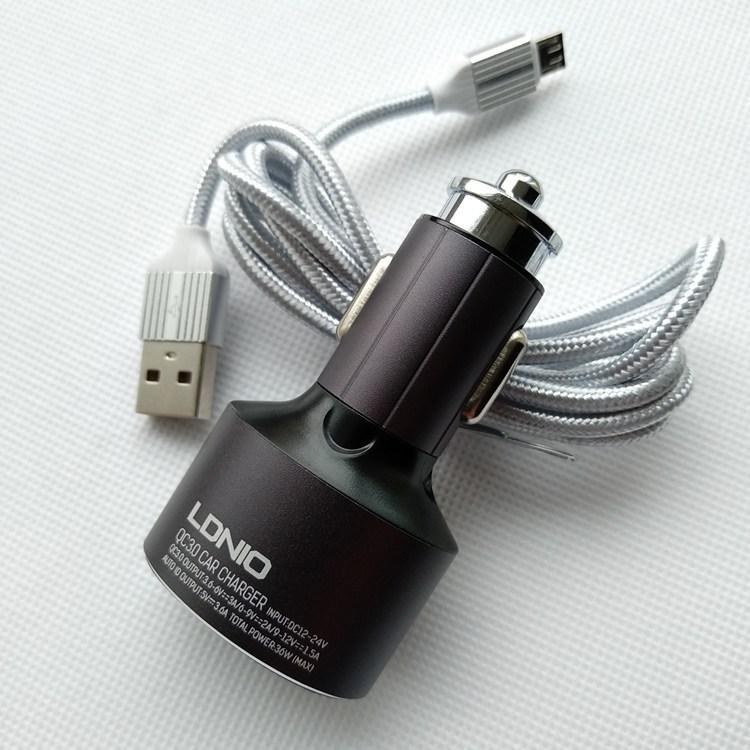 АЗУ LDNIO C703Q, Quick Charge 3.0, 3usb, 36W