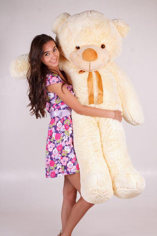 Большой плюшевый медведь Нестор кремовый  (160 см)
