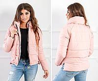 Новинка 2019 Стильная демисезонная женская куртка пудра 42 44 46 48, фото 1