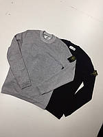 "Свитшот ""Stone Island"".Replic-Design grey & black."